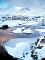 The Buachaille, WInter Dawn by Guy Aubertin